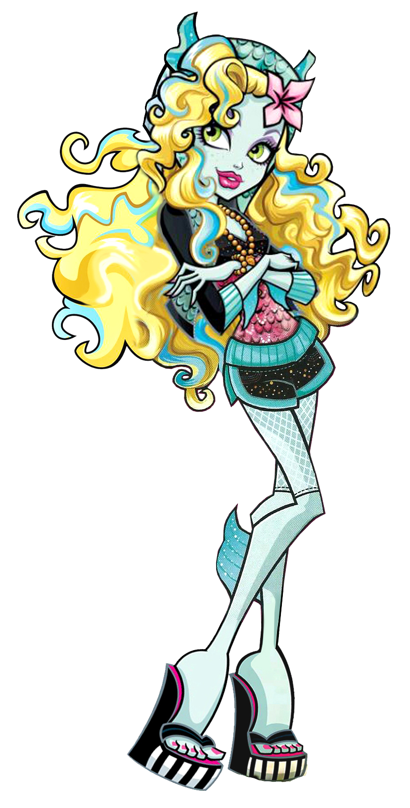 Monster High Lagoona Blue Lagoona Blue is the daughter of a Sea