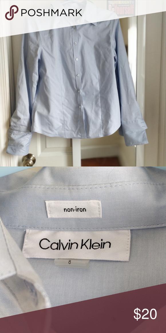 Calvin Klein Dress Shirt Light Blue Size 8 In 2020 Light Blue Dress Shirt Blue Shirt Dress Calvin Klein Dress