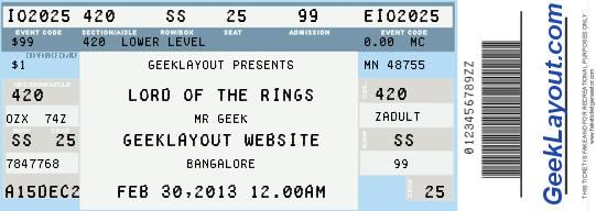Charming Fake Concert Ticket Generator  How To Make A Concert Ticket