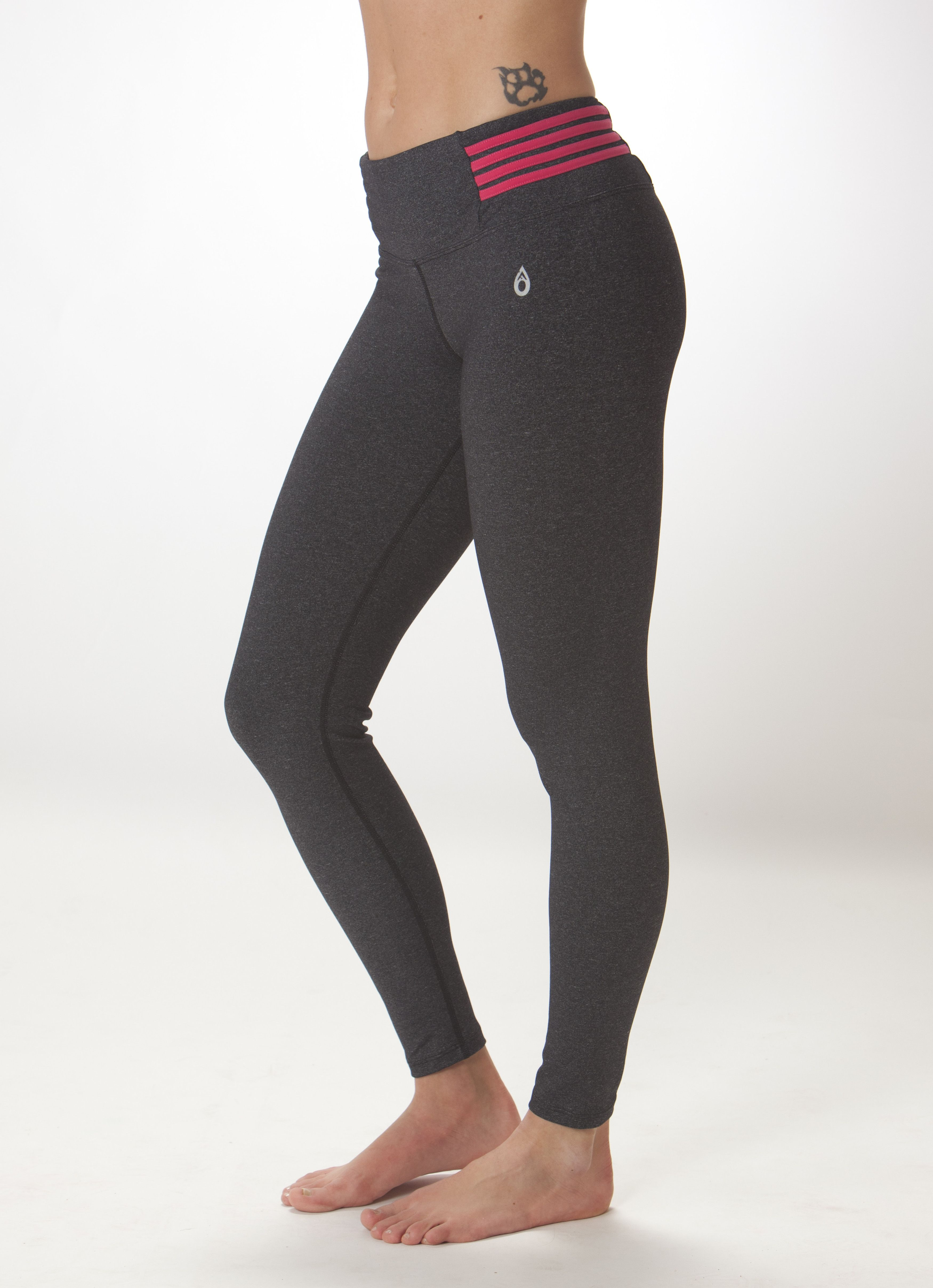 c4b2ac504159 Dona Jo Quattro women s active wear Leggings in Grey Pink Great for  running