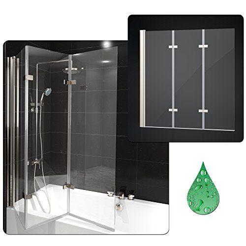 Duschabtrennung Badewanne Duschwand Badewannenfaltwand Glas Dusche ...   {Duschabtrennung 65}