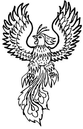 Phoenix Coloring Page Supercoloring Com Pictures Of Phoenix Coloring Pages Mythical Creatures