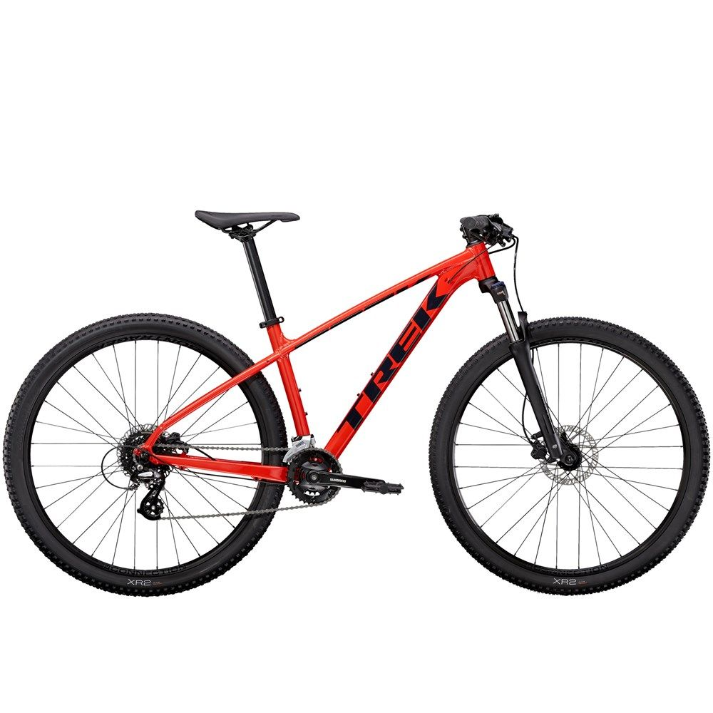 2021 Trek Marlin 6 Mens Hardtail Mountain Bike In Red Black In 2020 Hardtail Mountain Bike Mountain Biking Cross Country Mountain Bike