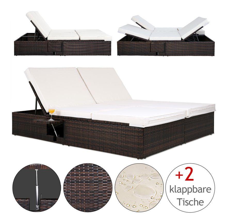 Deuba Bain De Soleil Double 2 Personnes Polyrotin Brun Coussins Beige 7 Cm Reglable Transat Double Lit Canape In 2020 Outdoor Decor Furniture Outdoor Furniture
