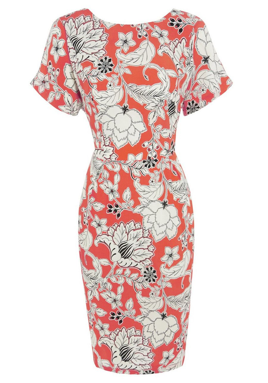 Clothing at Tesco | F&F Floral Print Dress > dresses > Dresses ...
