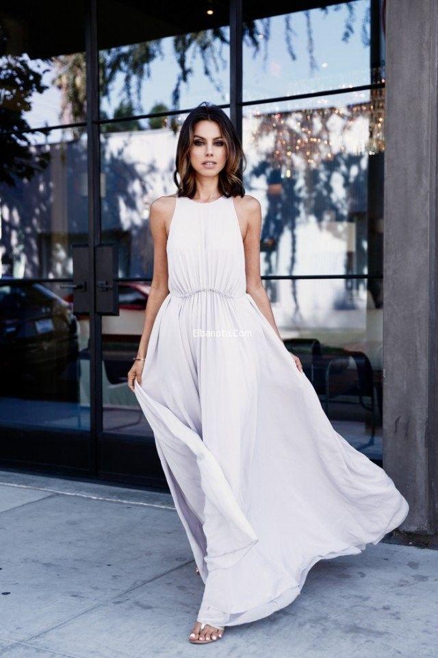موديلات ملابس كلاسيك حريمى 2016 Fashion White Maxi Dresses Beautiful Dresses