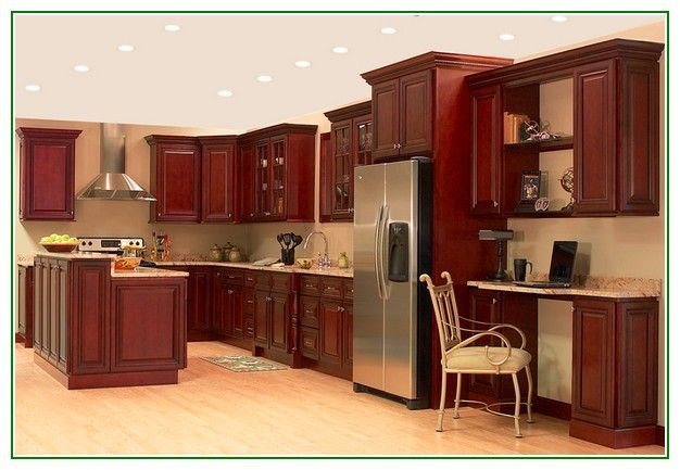 Gorgeous Cream Paint Color Ideas For Modern Kitchen With ...