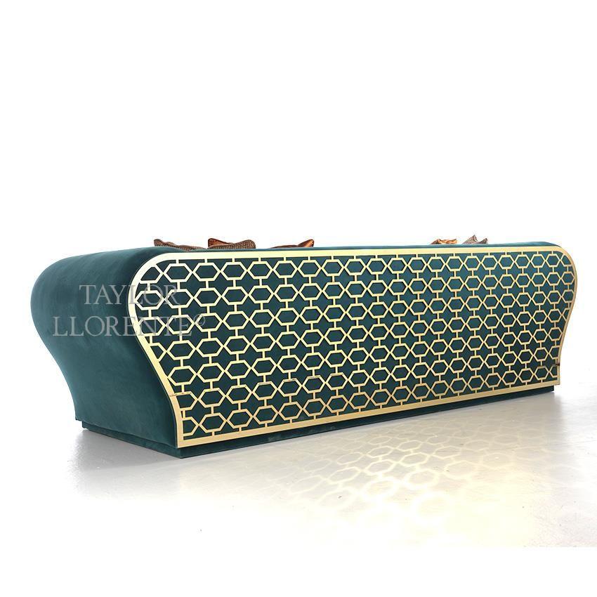 LUXURY SOFAS Sofa with Gold Metal Fretwork Design | TAYLOR ...