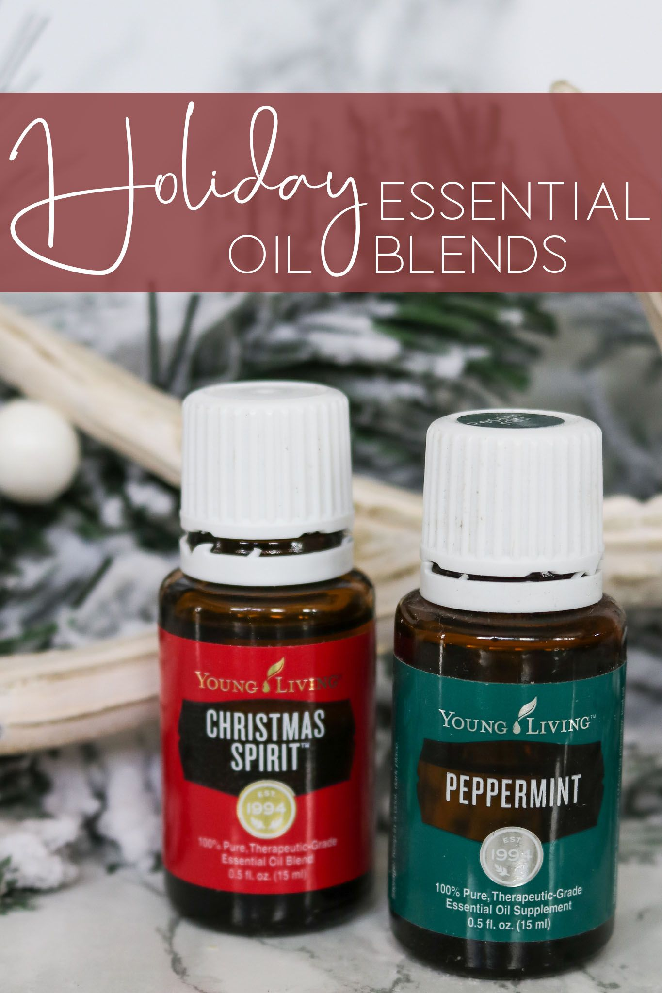Holiday Essential Oil Blends are the perfect way to make your home smell great during the ...