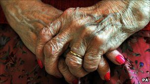 the always manicured very wrinkled hands of my great-grandma