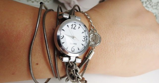 Back Stainless steel watch