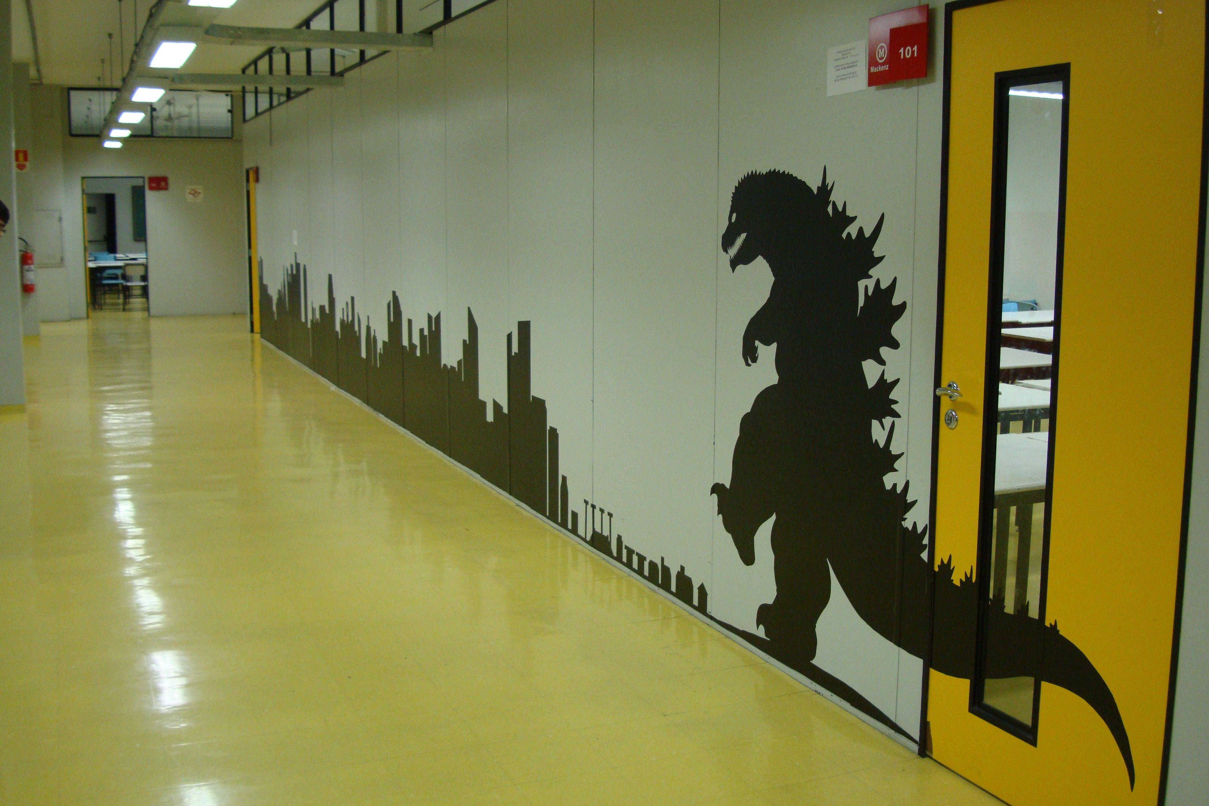 Godzilla on the Wall by Knalha.deviantart.com on @deviantART ...