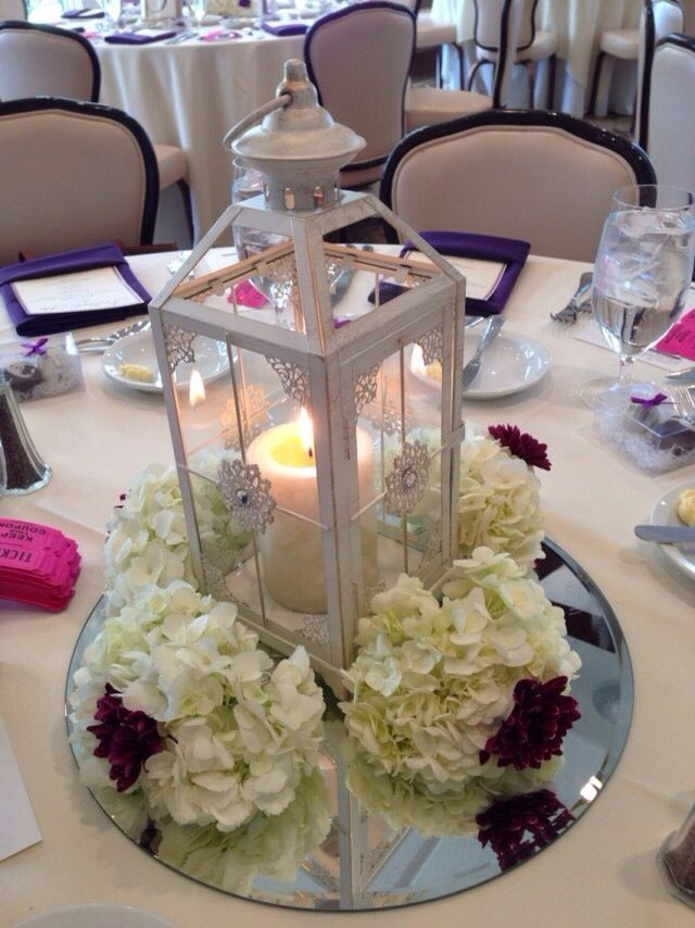 lantern bridal shower centerpiece