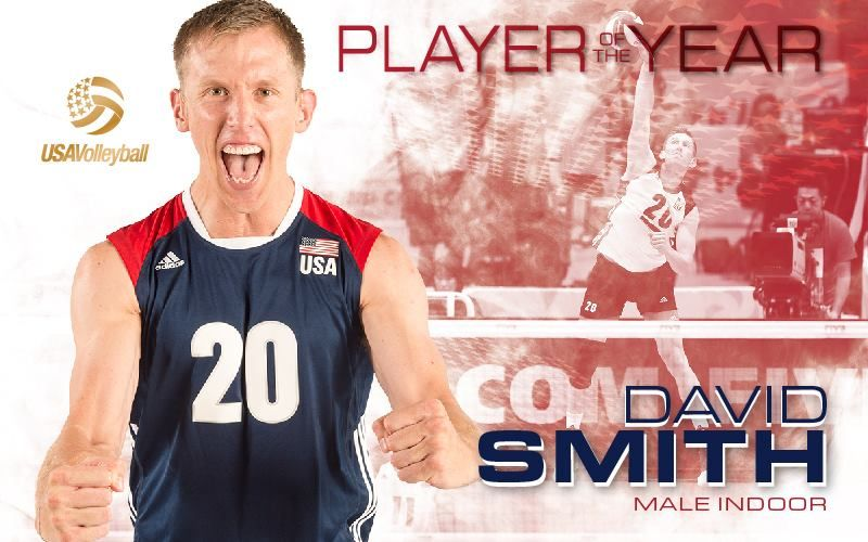Uci Alum David Smith 07 Received Usa Volleyball 2017 Male Indoor Athlete Of The Year Usa Volleyball Mens Volleyball David Smith