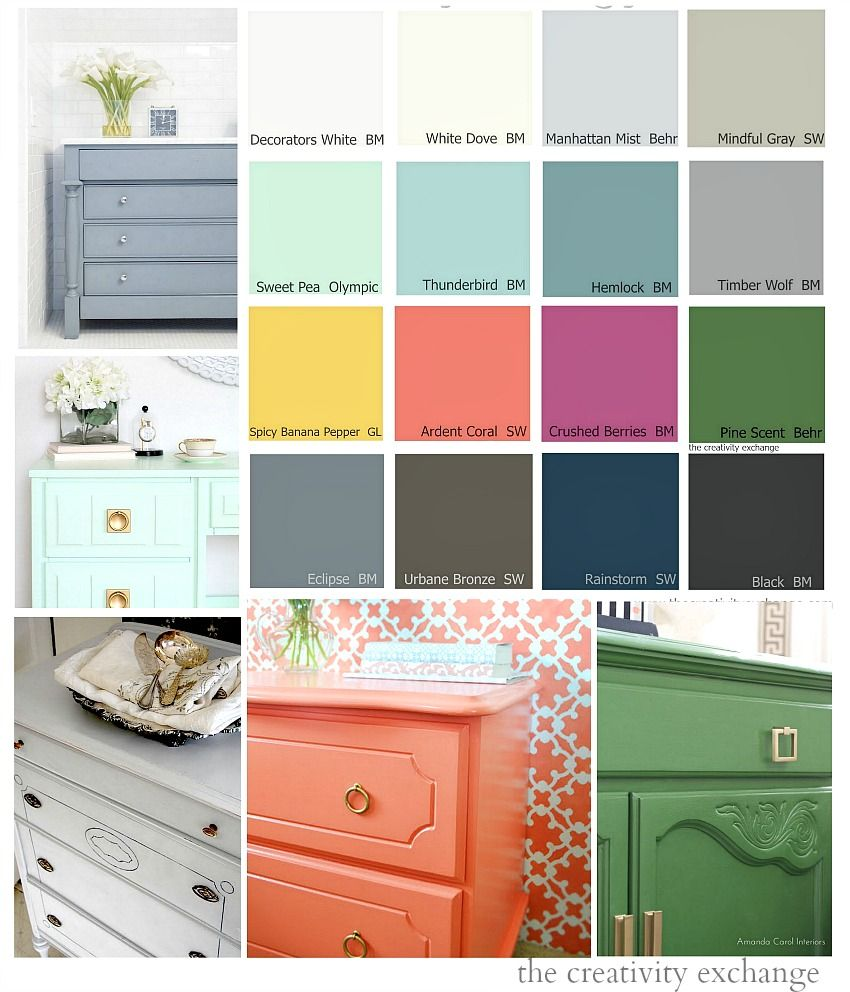 Coral Painted Rooms 16 Of The Best Paint Colors For Painting Furniture Paint
