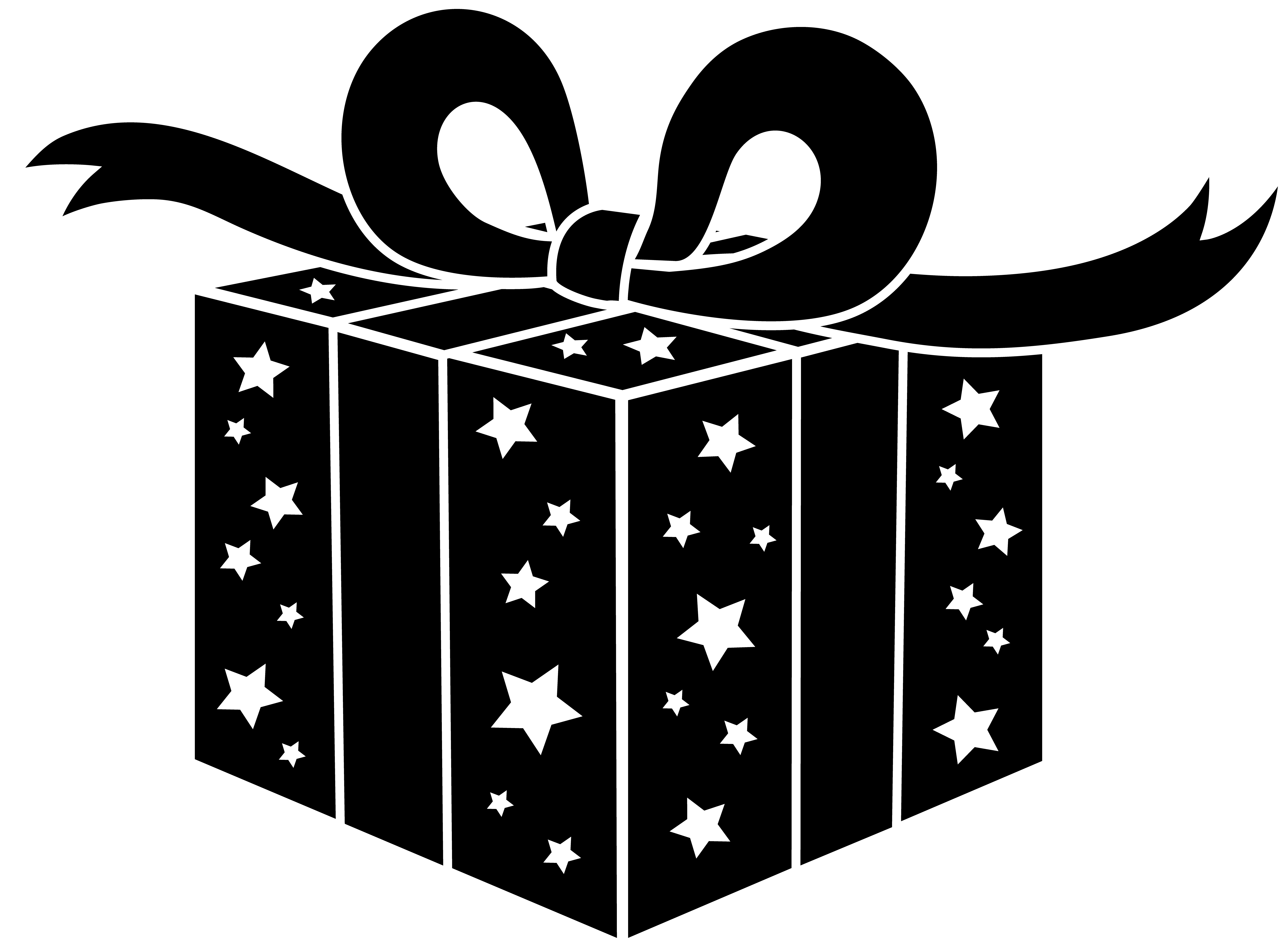 presents png file | Black and White Party Gift - Free Clip ...