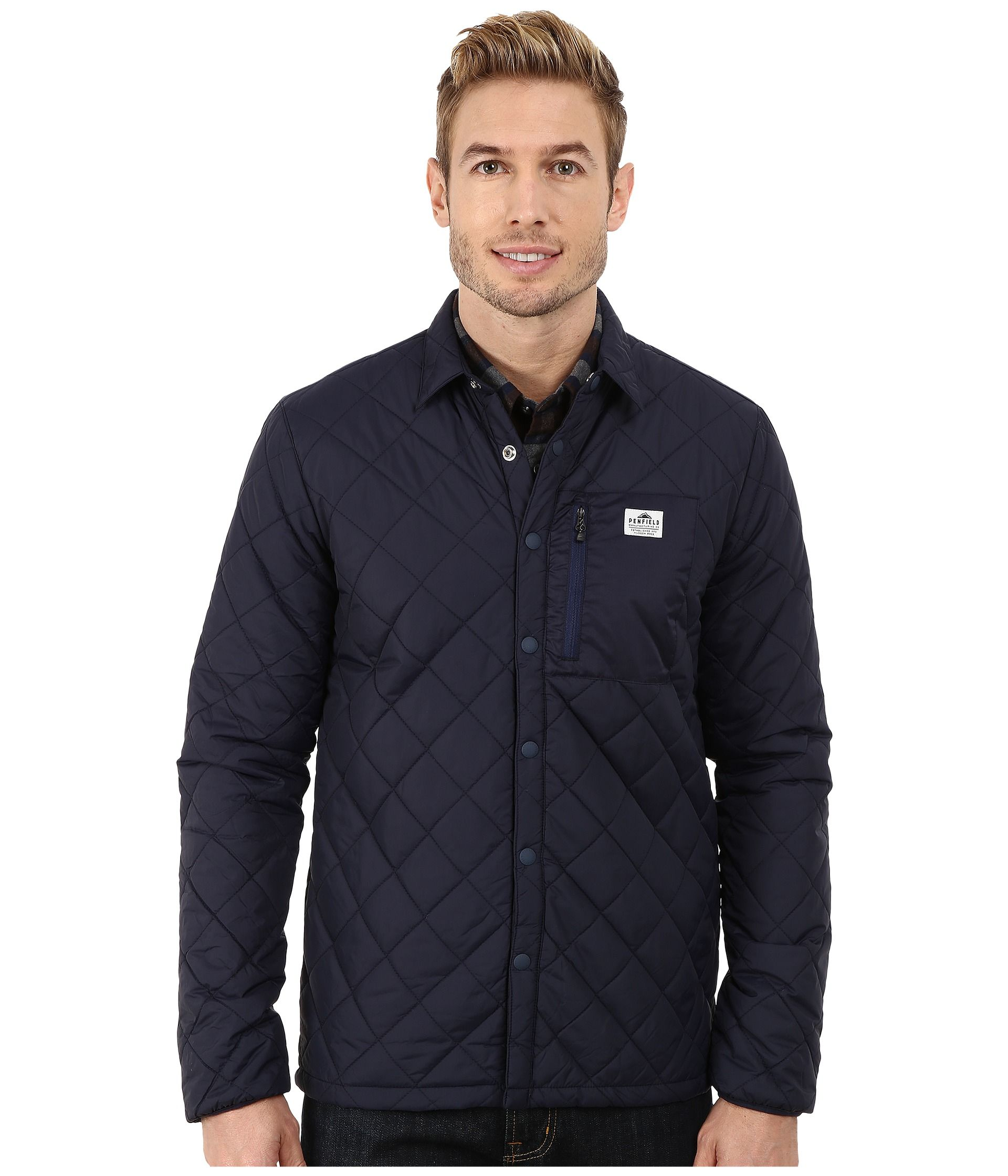 sidebyside product quilted mens shirt jacket quilt kingsland clothing carl equestrian