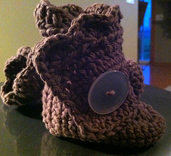 Little brown wrap crochet boots! In about any color or colors under the rainbow! Love!!