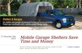 Portable Car Garage Shelters from Costco? read this first