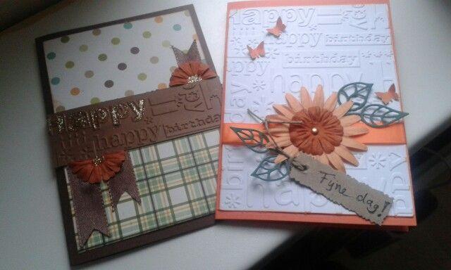 Herfstige verjaardagskaarten voor hem & haar.