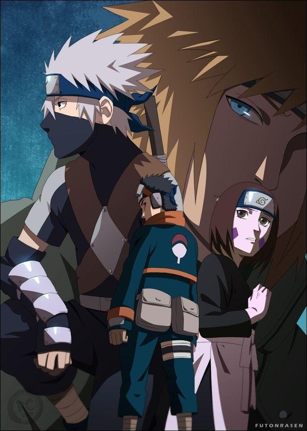 Team Minato Images Obito Rin And Kakashi Hd Wallpaper And Naruto Kakashi Team Minato Kakashi