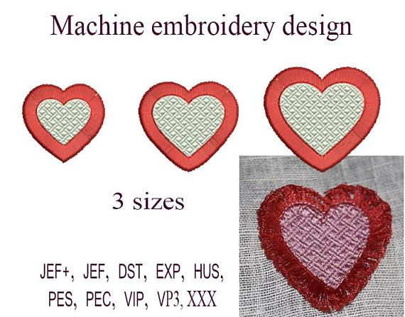 Machine Embroidery Designs Heart Fringe Embroidery Design Heart