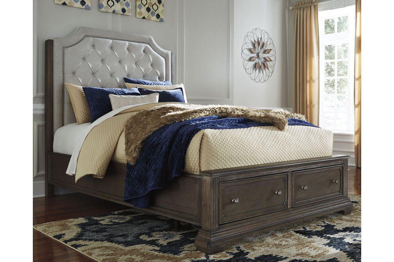 Mikalene Queen Panel Bed With Storage Queen Panel Beds Bed Storage King Storage Bed