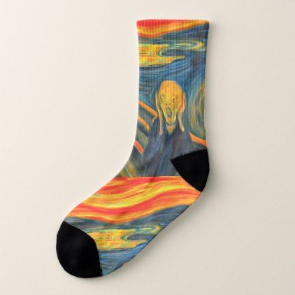 The Scream - Edvard Munch - Art Socks | Zazzle.com | Art