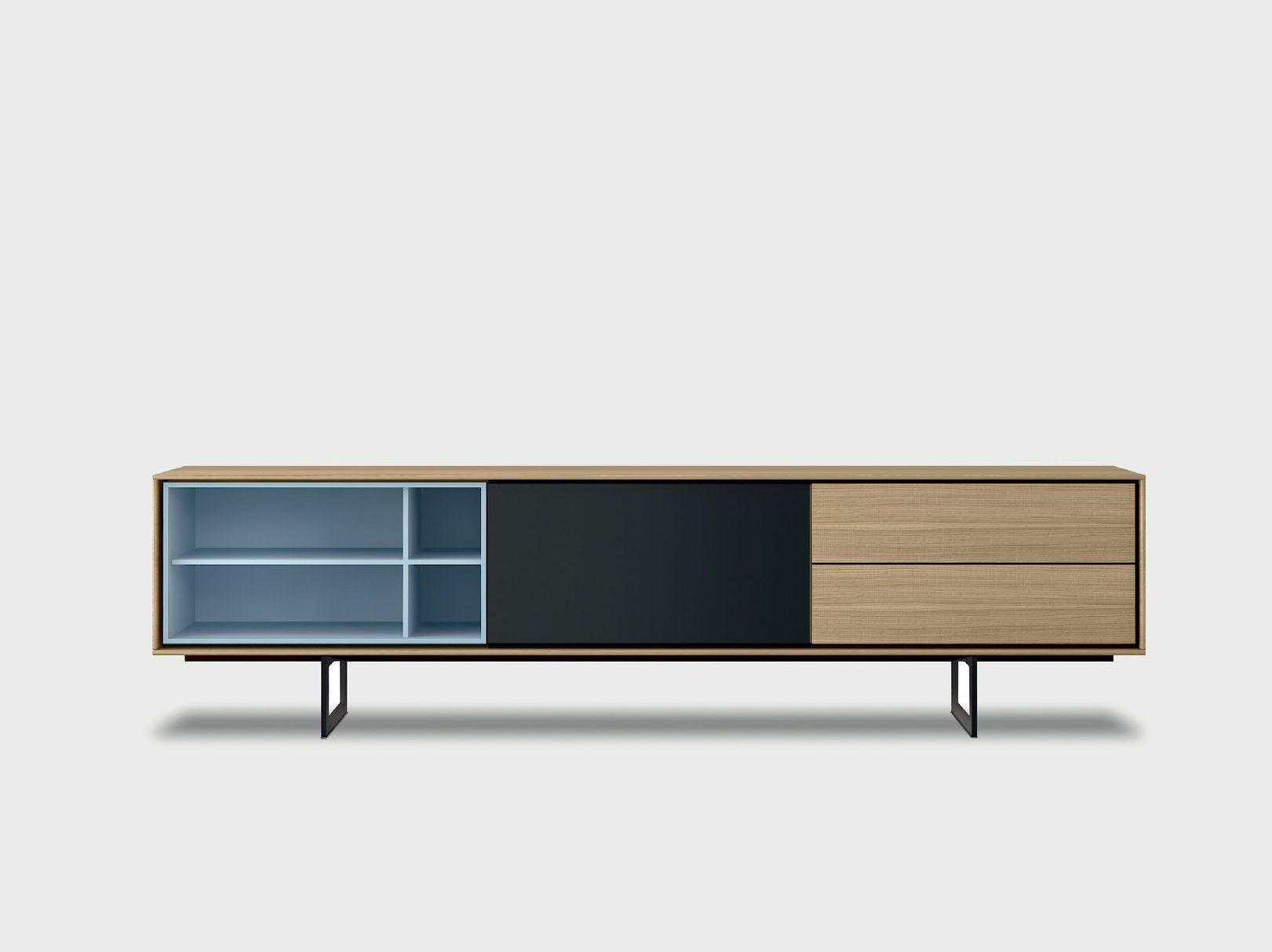 Lacquered Solid Wood Sideboard AURA C1 2 By TREKU Design Angel Martí,  Enrique Delamo