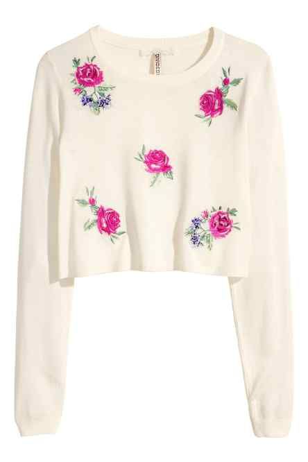 A SWEETPEA FLOWERS LADIES,WOMENS,PINK,EMBROIDERED SWEATSHIRTS,TOPS,JUMPER,WITH