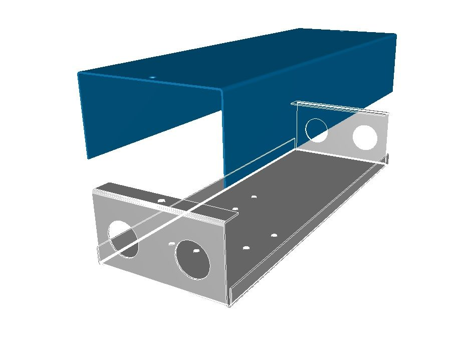 3d Model Of A Sheet Metal Box And Cover Used To Enclosure Electrical Gear Model Created With The Help Of Sheet Metal Sheet Metal Fabrication Sheet Metal Work