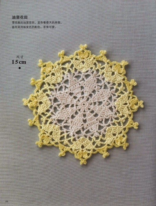 Crochet and arts: Round doily | TAPETES | Pinterest | Deckchen ...