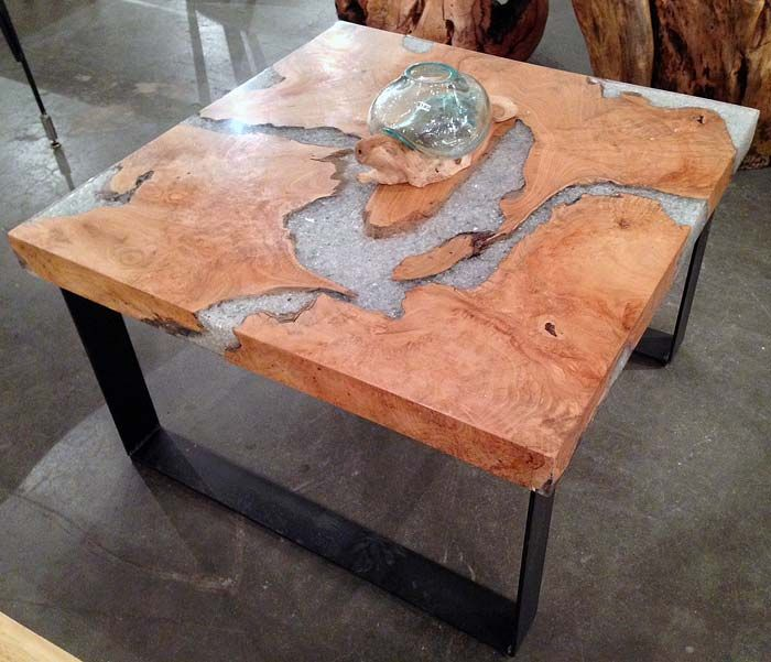Vidaxl Coffee Table Teak Resin: A Coffee Table Made From Reclaimed Old Growth Teak Tree