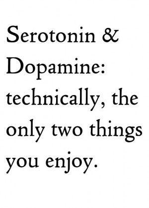 Psychology Major joke serotonin-dopamine Psych Stuff - joke divorce papers