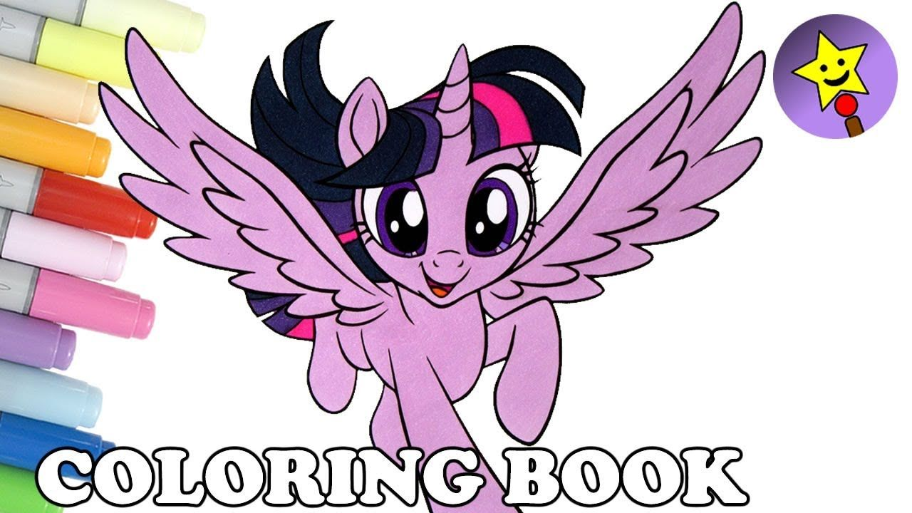 Princess Twilight Sparkle Coloring Book Page My Little Pony The