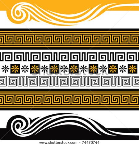 Vector Set Of Greece Ornaments, You Can Decorate With Them Anything - 74470744 : Shutterstock