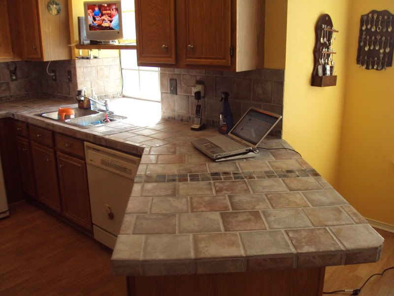 tile over laminate counter tops?