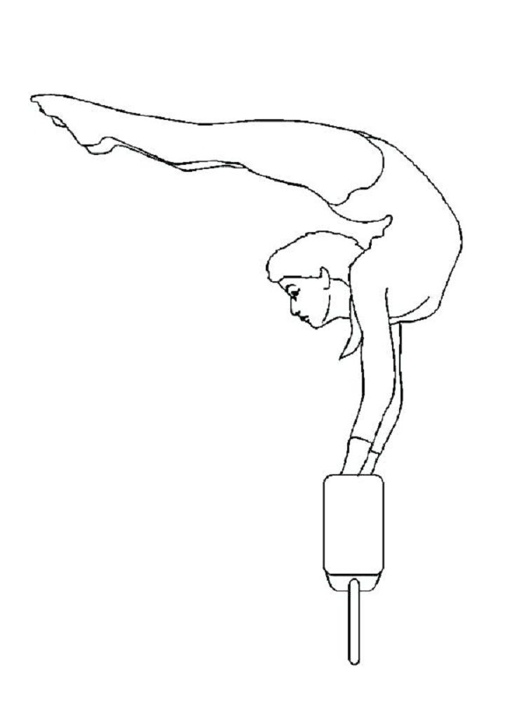 Gymnastics Handstand Coloring Pages Coloring Pages Coloring Pages To Print Online Coloring Pages