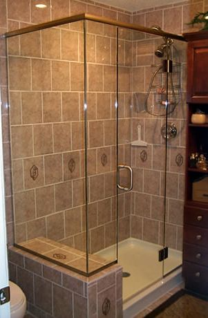Frameless Shower Enclosure With Header And Clips Shower