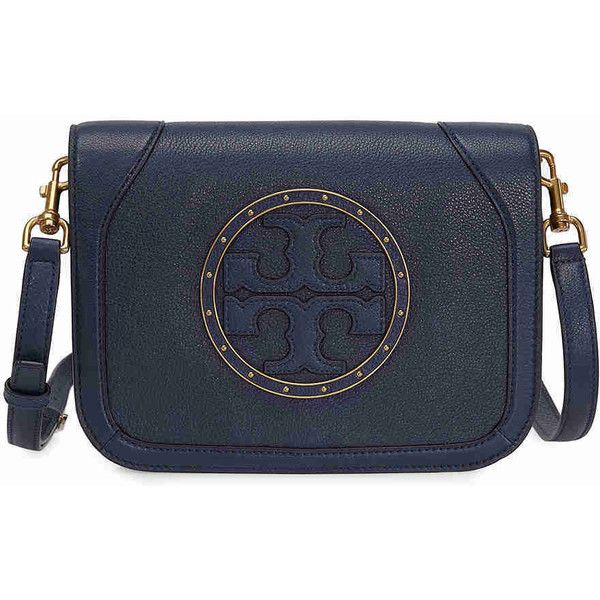 1bd2e896558a Tory Burch Stud Cross-Body - Royal Navy (535 BAM) ❤ liked on Polyvore  featuring bags, handbags, shoulder bags, blue shoulder bag, blue crossbody,  navy blue ...