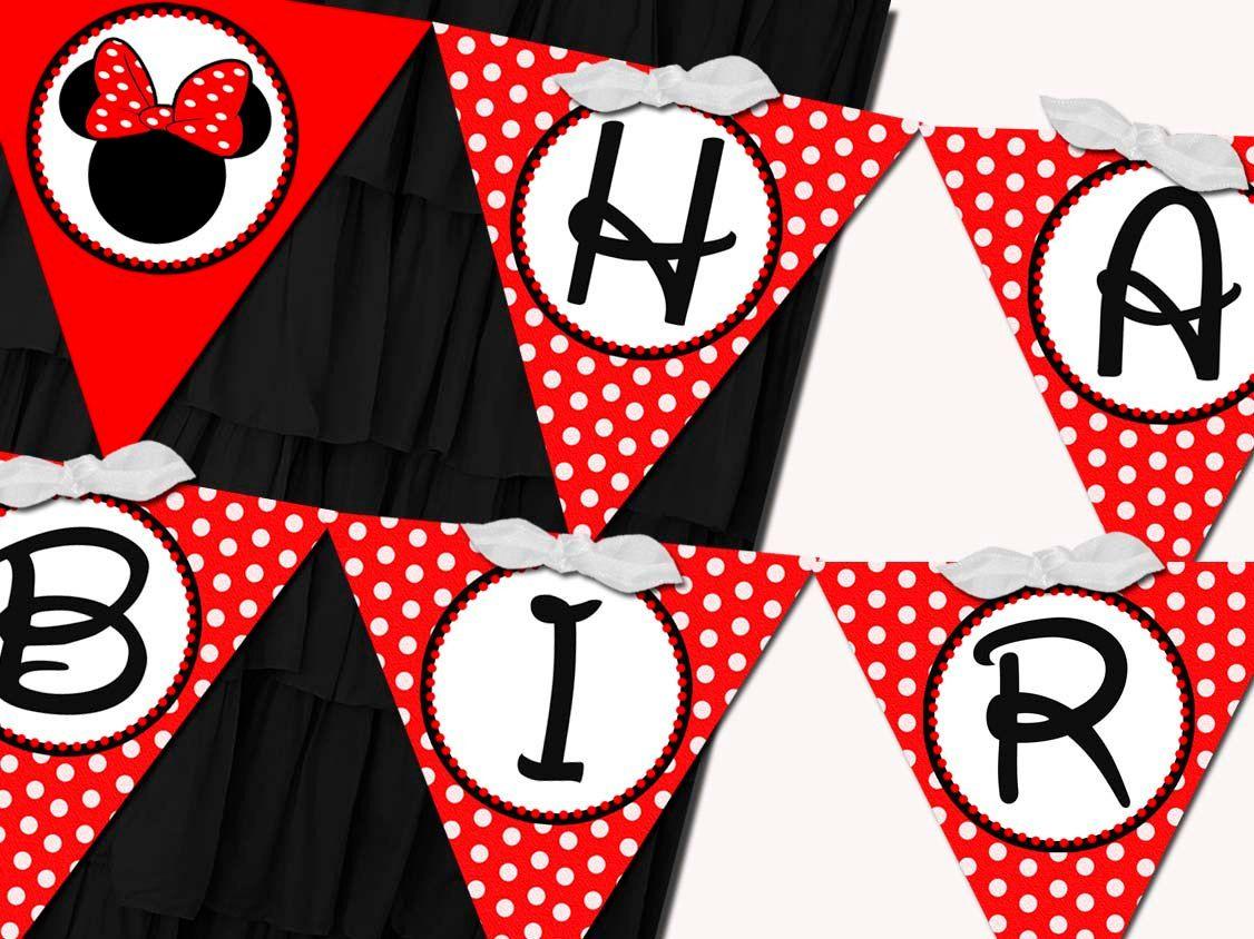 free minnie mouse birthday printables | Printable Flag ...