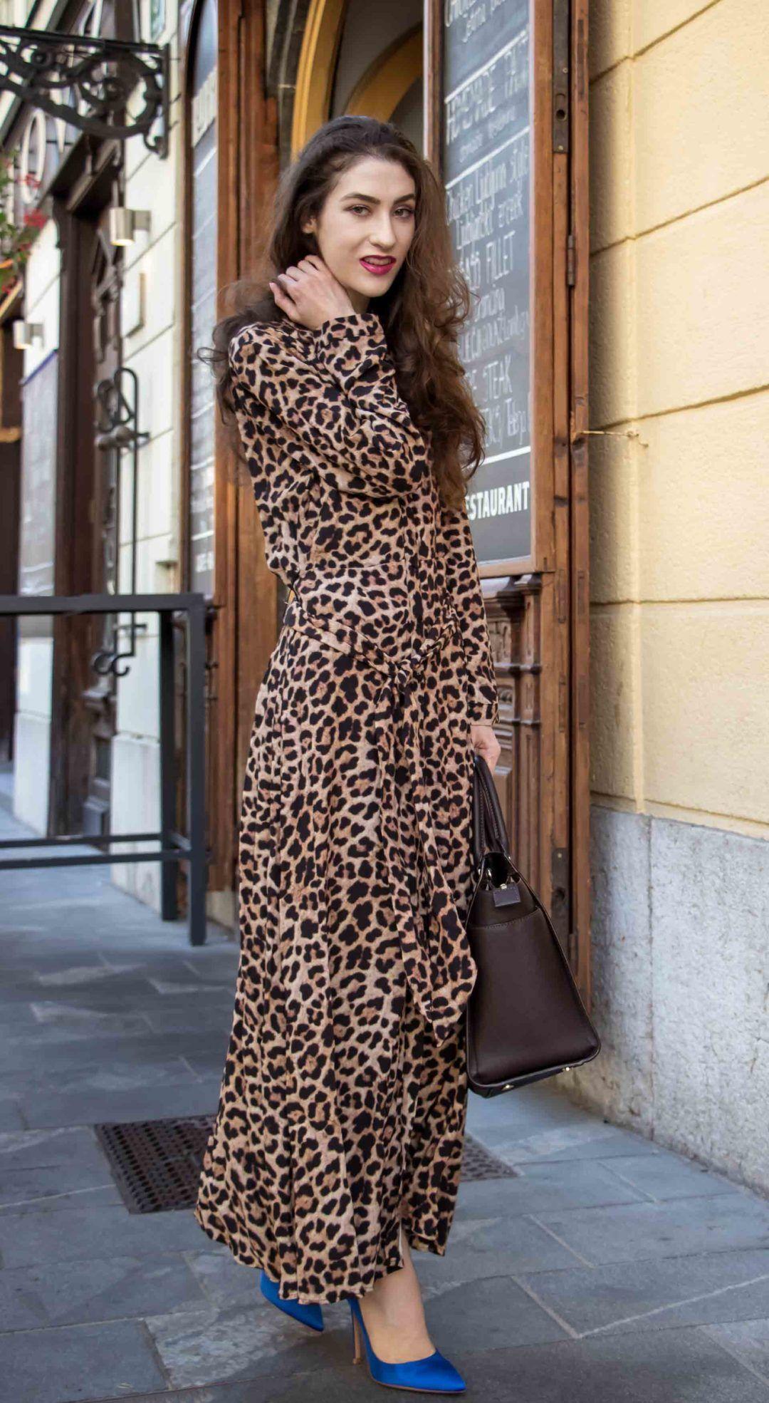 How To Wear Leopard Print Dress Brunette From Wall Street Leopard Print Dress Print Dress Animal Print Dresses