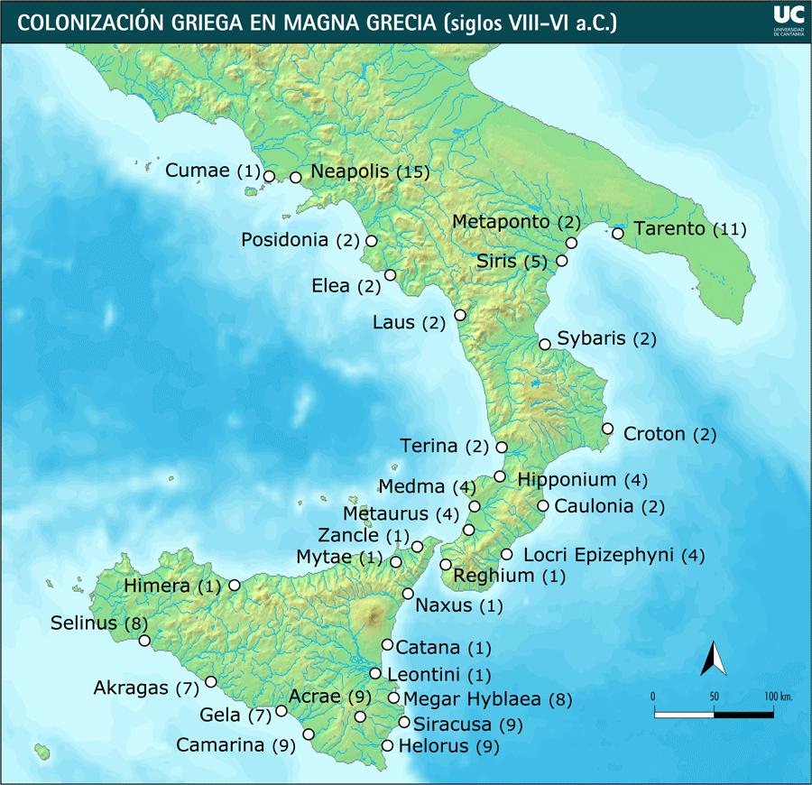 5 nombres de colonias griegas