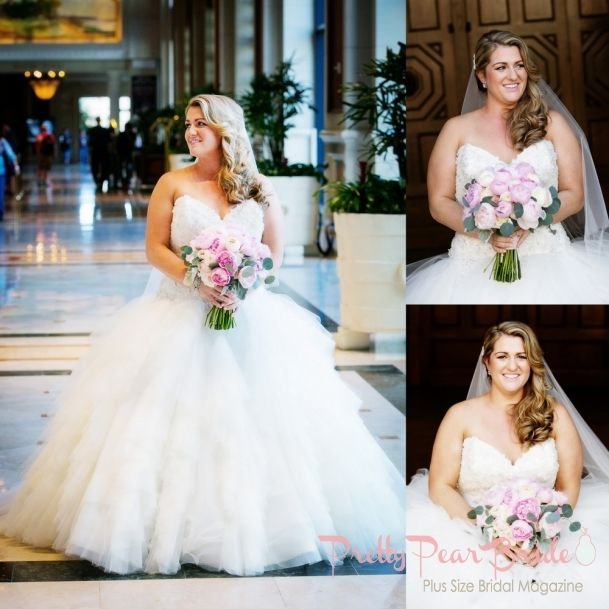 Plussize Bride Real Plus Size Wedding Blush And Ivory San Go