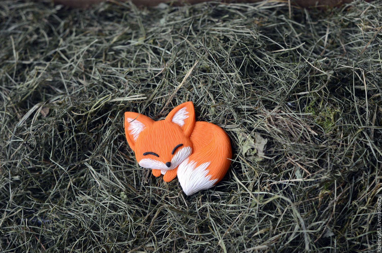 """Купить Брошь """"Лисичка"""". Брошка в подарок для девочки, для дочки - оранжевый, лисички, лиса, брошь, брошка"""