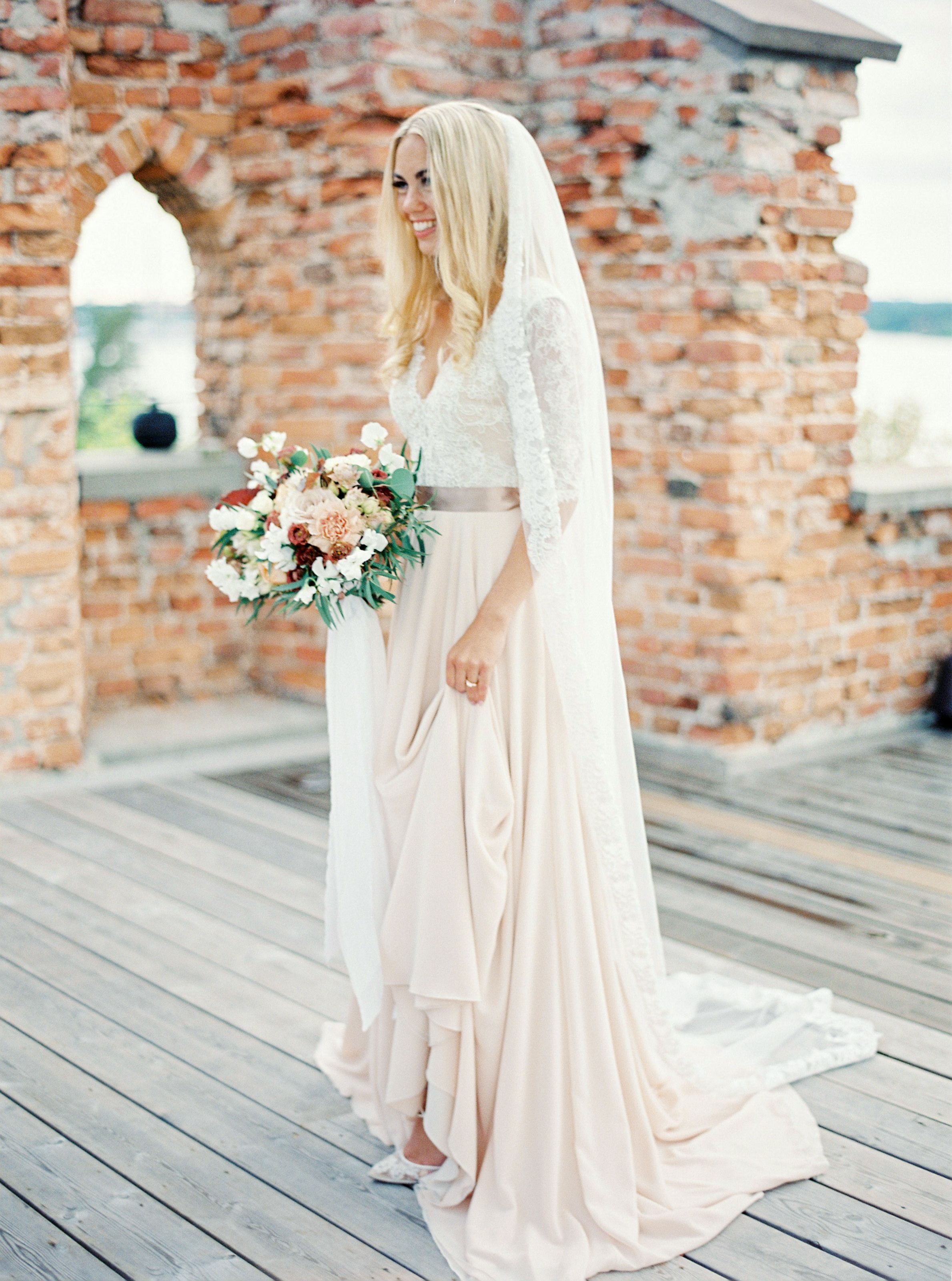0fd6edbace1e Gorgeous silk chiffon wedding gown from Esty Style. Rent it from The WOW  Closet.