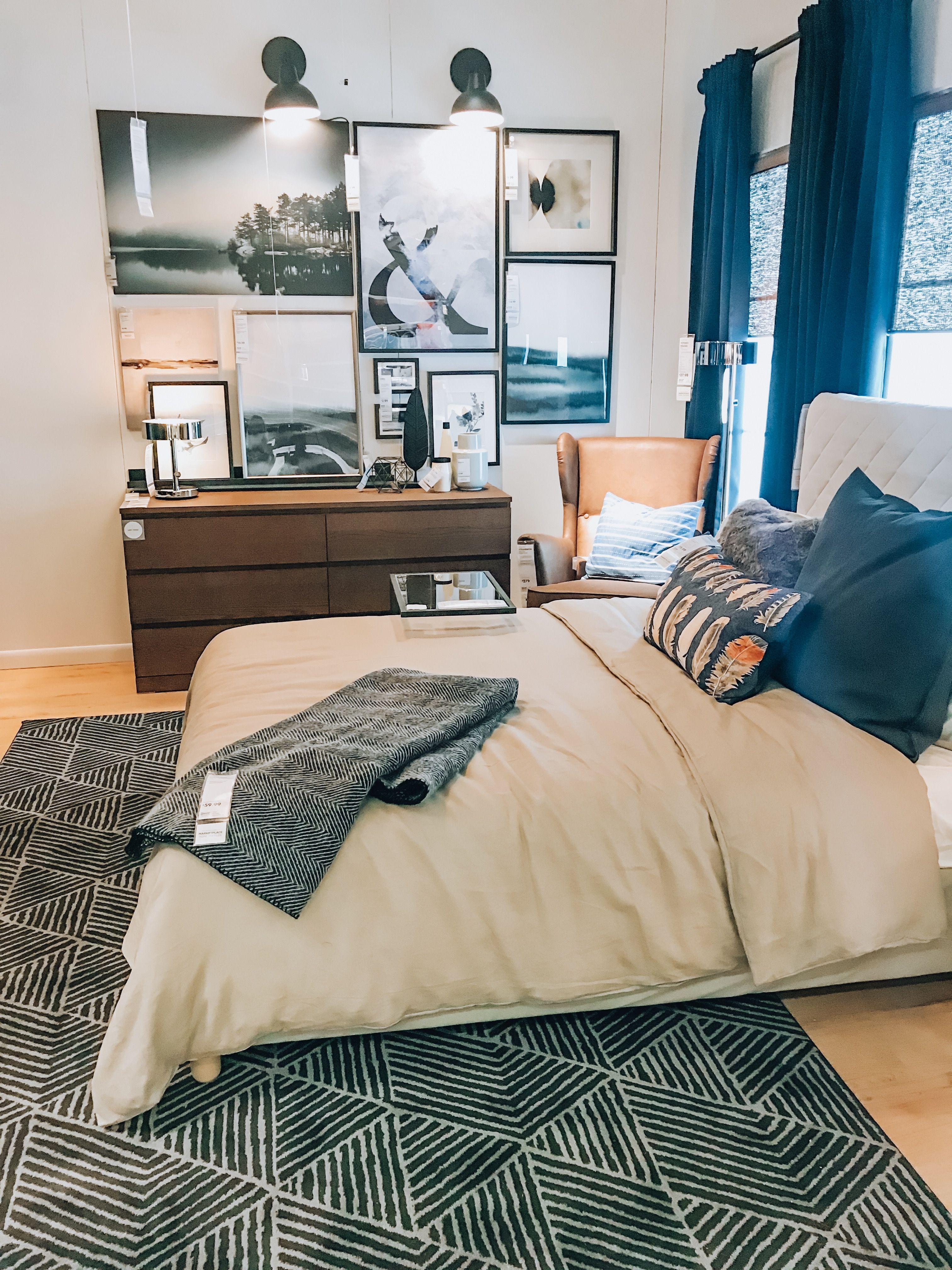 IKEA bedroom inspiration  College bedroom decor, Dorm room