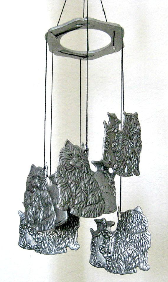 Garden Chimes Wind Chime Outdoor Chime Metal Windchime Cat