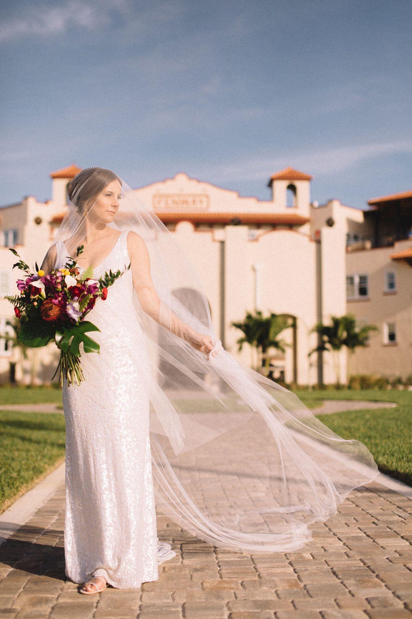 Fenway Hotel In Dunedin Florida Bridal Wedding