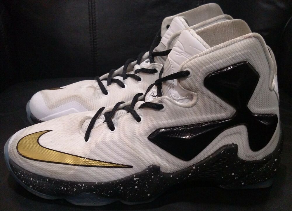 Nike Air Zoom Lebron 13 White And Gold Basketball Shoes Youth Size 7 Fashion Clothing Shoes Blue Basketball Shoes Black Casual Shoes Gold Basketball Shoes